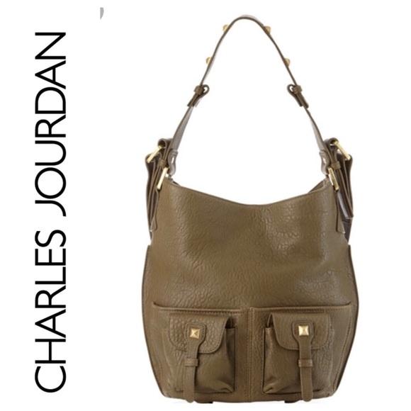 dea836631a39 NWOT Charles Jourdan Glory Cargo Tote Green